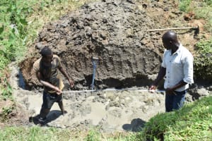 The Water Project: Ikoli Community, Odongo Spring -  Digging For The Foundation