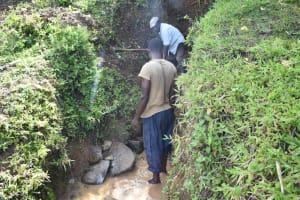 The Water Project: Ikoli Community, Odongo Spring -  Identification Of The Eyes