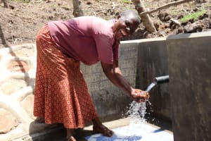 The Water Project: Malekha Central Community, Misiko Spring -  A Joyful Moment