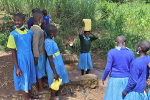 The Water Project: Bukhakunga Primary School -  Students At The Spring