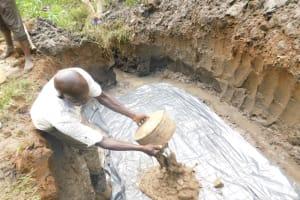 The Water Project: Musango Community, Wambani Spring -  Constructing The Foundation
