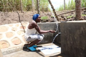 The Water Project: Malekha Central Community, Misiko Spring -  Making A Splash