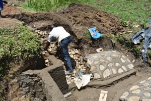 The Water Project: Ikoli Community, Odongo Spring -  Setting Up The Staircase