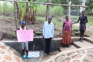 The Water Project: Malekha Central Community, Misiko Spring -  Thank You