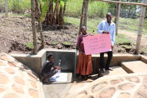 The Water Project: Malekha Central Community, Misiko Spring -  All Smiles