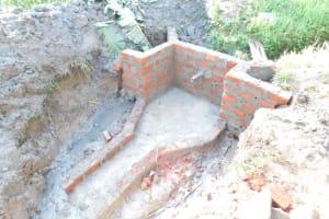 The Water Project: Musango Community, Wambani Spring -  Walls Reach Final Height