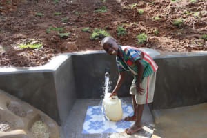 The Water Project: Malekha West Community, Soita Spring -  Clean Water Joy