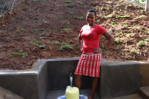 The Water Project: Malekha West Community, Soita Spring -  Posing At The Spring