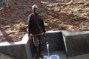 The Water Project: Malekha West Community, Soita Spring -  Water Happiness