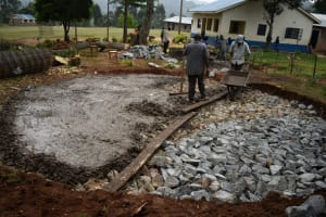 The Water Project: Lwombei Primary School -  Concrete Placement