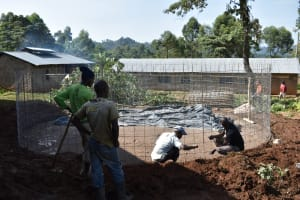 The Water Project: Lwombei Primary School -  Tank Wall Reinforcement