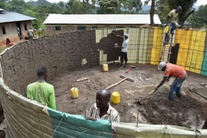 The Water Project: Lwombei Primary School -  First Layer Plaster