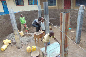 The Water Project: Lwombei Primary School -  Pillar For Tank