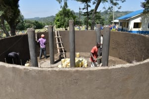 The Water Project: Lwombei Primary School -  Outside Layer Plaster