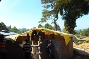 The Water Project: Lwombei Primary School -  Dome Construction
