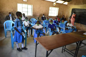The Water Project: Lwombei Primary School -  A Student Addressing Training Participants