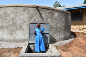 The Water Project: Lwombei Primary School -  A Student Celebrating