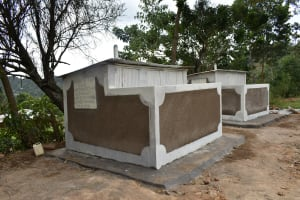 The Water Project: Lwombei Primary School -  Complete Latrines