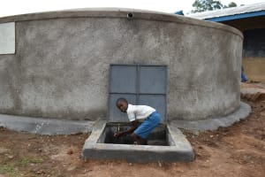 The Water Project: Lwombei Primary School -  Complete Tank