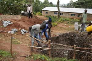 The Water Project: Lwombei Primary School -  Concrete Mixing