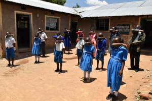 The Water Project: Lwombei Primary School -  Elbow Cough