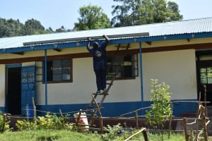 The Water Project: Lwombei Primary School -  Gutter Setting