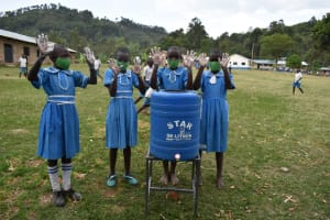 The Water Project: Lwombei Primary School -  Handwashing Facility