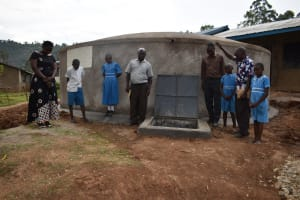 The Water Project: Lwombei Primary School -  Prayers At The Tank