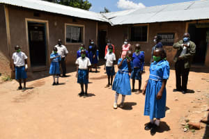 The Water Project: Lwombei Primary School -  Proper Mask Wearing