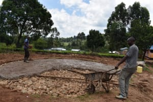 The Water Project: KG Jeptorol Primary School -  Tank Concrete Placement