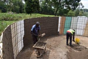 The Water Project: KG Jeptorol Primary School -  Inside Plasterworks