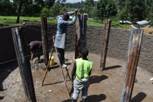 The Water Project: KG Jeptorol Primary School -  Pillar Placement And Setting