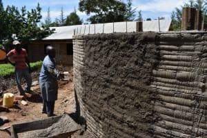 The Water Project: KG Jeptorol Primary School -  Outside Plasterworks