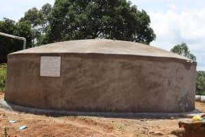 The Water Project: KG Jeptorol Primary School -  Complete Water Tank