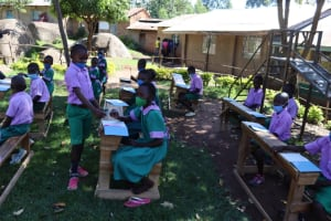 The Water Project: KG Jeptorol Primary School -  Distribution Of Training Materials