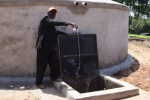 The Water Project: KG Jeptorol Primary School -  Maloba James School Chairperson