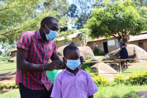 The Water Project: KG Jeptorol Primary School -  Mask Wearing Demonstration