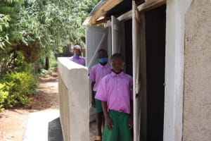 The Water Project: KG Jeptorol Primary School -  Students At Latrine