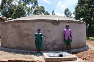 The Water Project: KG Jeptorol Primary School -  Students At Water Point