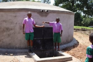 The Water Project: KG Jeptorol Primary School -  Students Celebrating