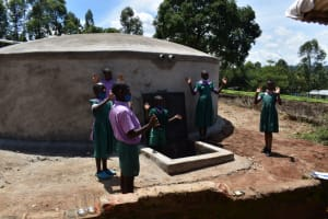 The Water Project: KG Jeptorol Primary School -  Students Celebrating Water