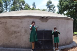 The Water Project: KG Jeptorol Primary School -  Students Drinking Water
