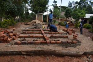 The Water Project: KG Jeptorol Primary School -  V I P Latrine Brickwork