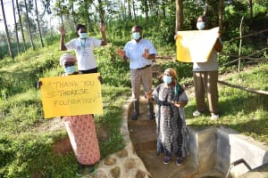 The Water Project: Shianda Township Community, Olingo Spring -  With Much Love From Olingo Spring