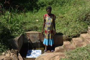 The Water Project: Mahira Community, Jairus Mwera Spring -  Carolyne N
