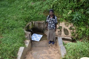 The Water Project: Mahira Community, Wora Spring -  Roselyne Atema At The Spring
