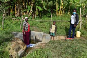 The Water Project: Mahira Community, Litinyi Spring -  Agnes Kutondo Fernando M And Mary Afandi