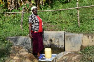 The Water Project: Mahira Community, Litinyi Spring -  Agnes Kutondo At The Spring