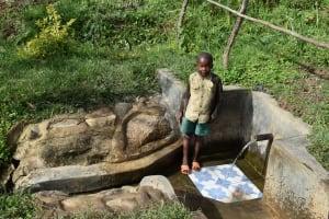 The Water Project: Mahira Community, Litinyi Spring -  Fernando M At The Spring