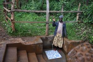 The Water Project: Harambee Community, Elijah Kwalanda Spring -  Selina At The Spring